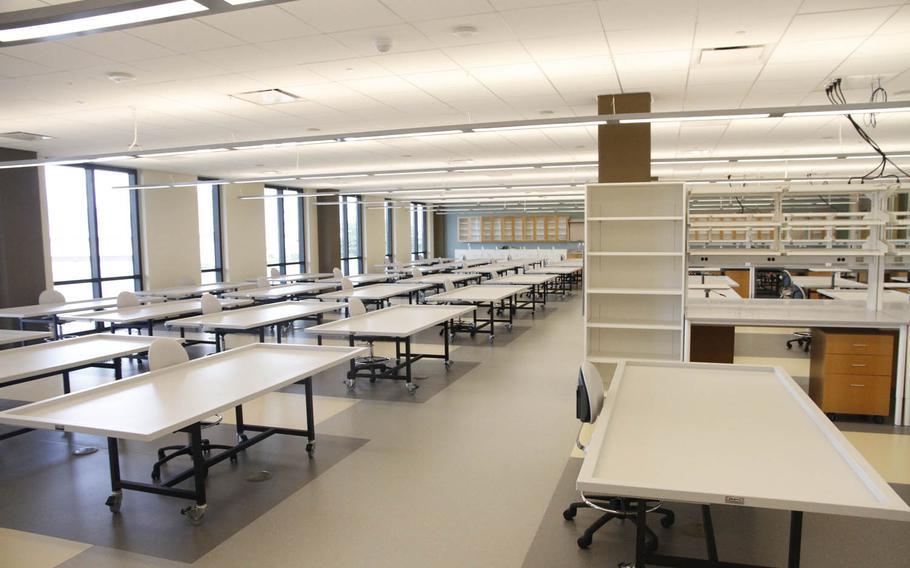 The Defense POW/MIA Accounting Agency's new lab has a vastly expanded work area where remains are analyzed in the quest for identification. The lab's storage area for remains is double what the DPAA has on hand in a dozen buildings at Joint Base Pearl Harbor-Hickam in Hawaii.