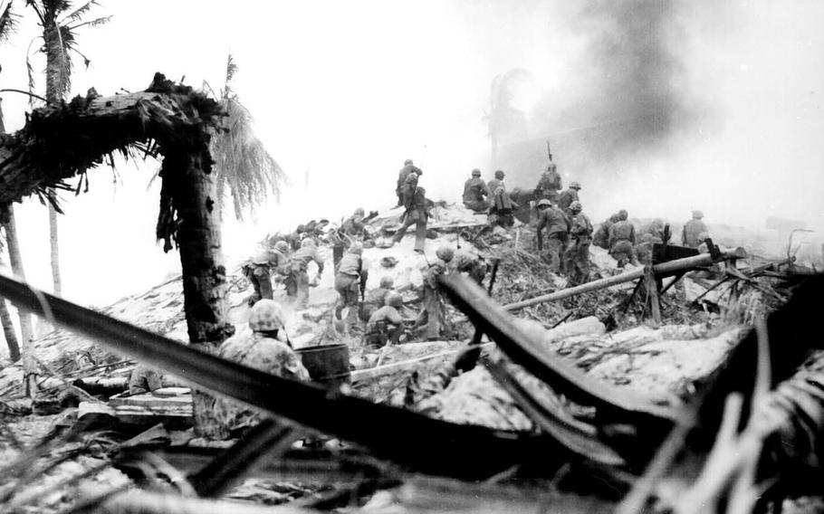 More than 1,000 Marines were killed and more than 2,000 were wounded in the Battle of Tarawa, which took place Nov. 20-23, 1943, on Betio, a tiny island in the Pacific Ocean's Tarawa Atoll.