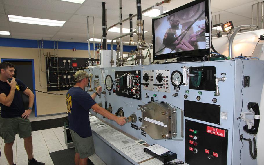 For treatment of decompression sickness, Naval Base Guam