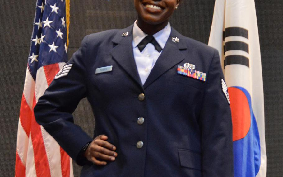Staff Sgt. Cierra Rogers died May 20, 2016 in Florida from injuries she sustained in April while rescuing a family from a burning building near Osan Air Base, South Korea.