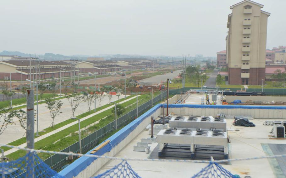 A view from the roof of the future 2nd Infantry Division headquarters at Camp Humphreys on June 5, 2016.