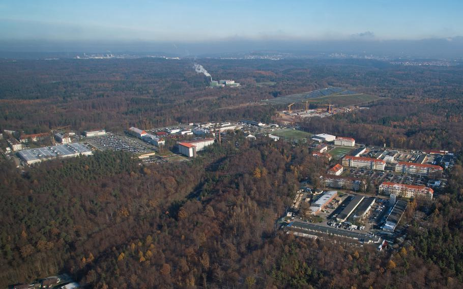 The military is investigating the theft of arms from a weapons room at U.S. Army Garrison Stuttgart. Panzer Kaserne, home to the garrison's headquarters, is shown here.