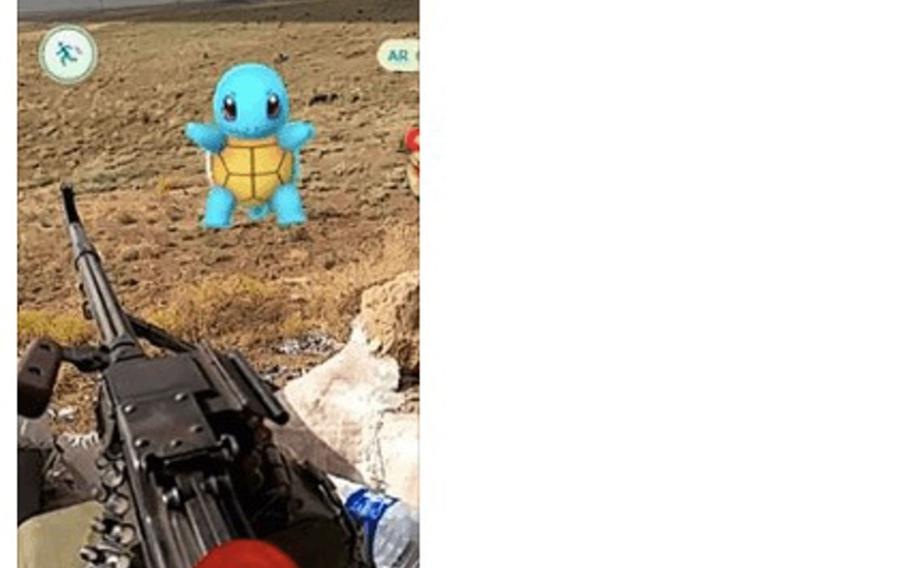 A screen shot shows a Facebook post by Louis Park, a Marine veteran, challenging the Islamist militants to a Pokemon battle on the front lines near Mosul, Iraq.