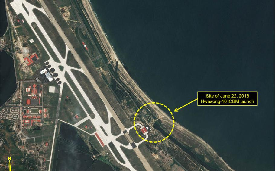 North Korea launched a missile from an airport on its east coast earlier this summer and will likely use the facility for future tests, 38 North, a Washington-based think tank, says.