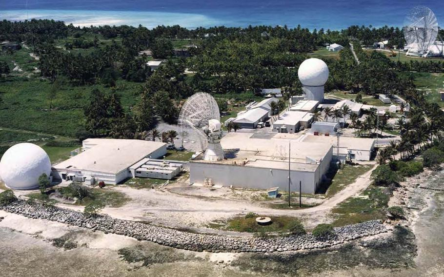 The Ronald Reagan Ballistic Missile Defense Test Site at Kwajalein Atoll, Republic of the Marshall Islands, is among a growing number of U.S. military installations threatened by the effects of climate change, a recent report said.