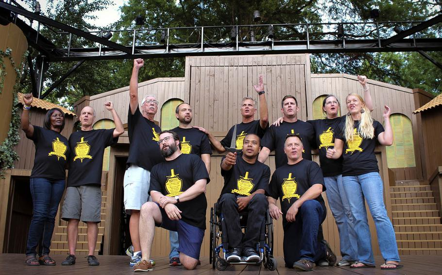 """Shakespeare With Veterans is a Kentucky-based theater troupe that aims to provide """"the opportunity for camaraderie and a higher sense of purpose that represents what veterans loved most during [their] military service."""""""