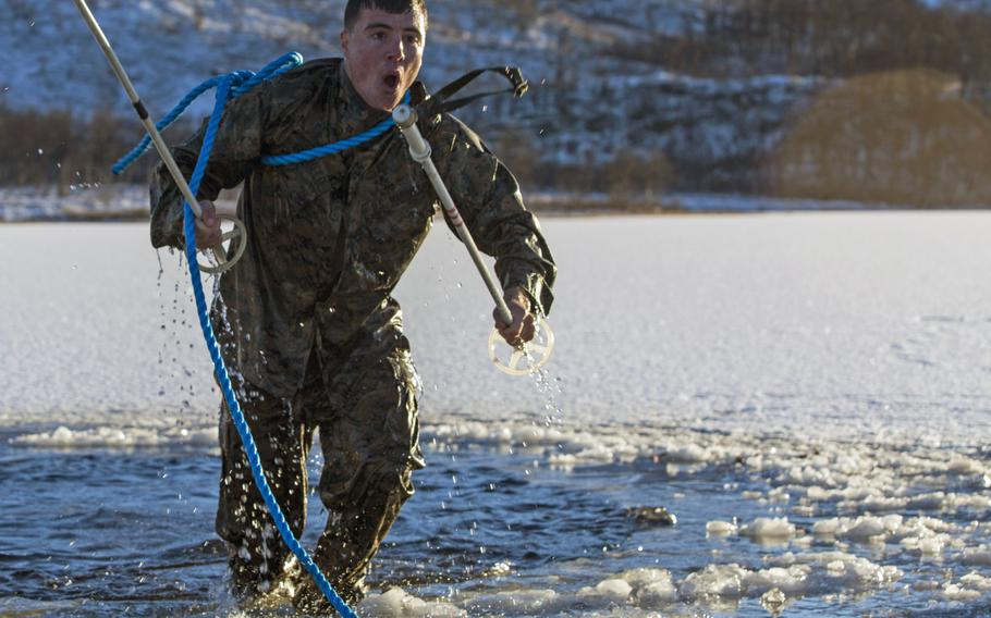 U.S. Marines train with the Norwegian army cold-weather instructors in Blatind, Norway, Oct. 27-Nov. 4, 2016, to improve their ability to operate in mountainous and extreme cold-weather environments.