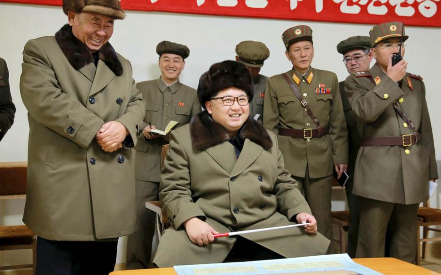North Korean leader Kim Jong Un is pictured in this undated photo from the Korean Central News Agency. The communist nation claims it can launch an intercontinental ballistic missile at any time.