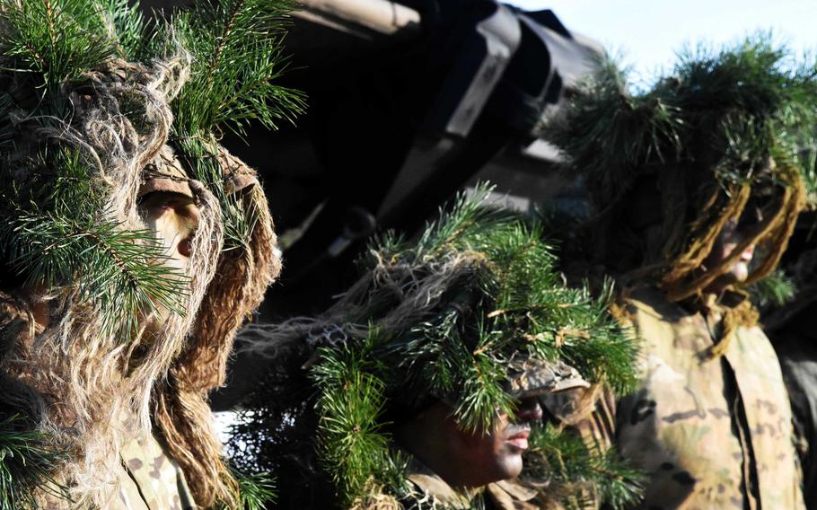 U.S. snipers at the live fire exercise with Polish and American troops in Zagan, Poland, on Monday, Jan. 30, 2017.
