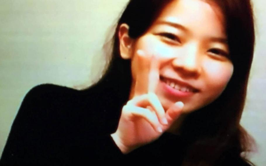 Rina Shimabukuro is seen in an image from a Fuji Television broadcast. Kenneth Franklin Gadson, a former Marine working as a civilian at Kaden Air Base, Okinawa, has been charged with murder and rape resulting in death in the slaying of the 20-year-old local woman.