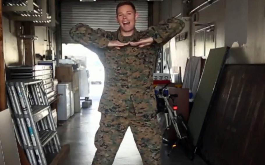 """Some Marines on Okinawa recently released a video of themselves performing choreographed dance moves to """"Koi,"""" the closing theme song of a popular Japanese television show."""