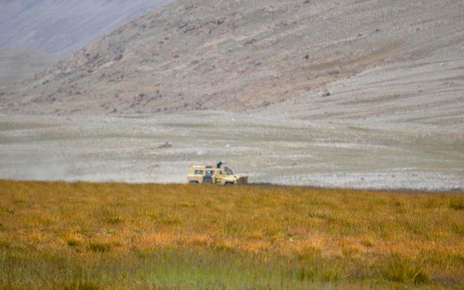 In November, an Indian news outlet published photographs of vehicles on patrol in the Wakhan corridor close to Afghanistan's border with China, which it said could be a Chinese variant of the MRAP.