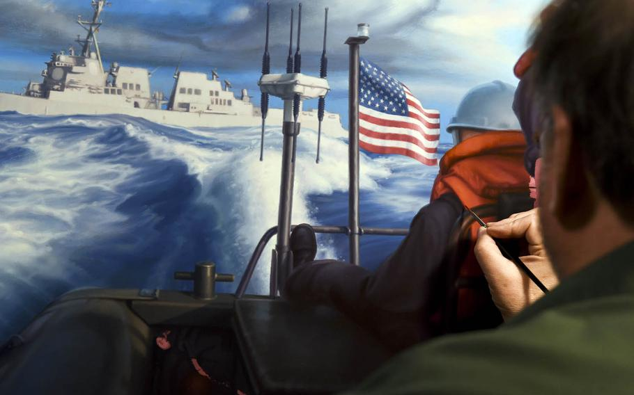 Since World War II, artists with the Combat Art Program have been deploying with paints and brushes in hand to capture Navy history.
