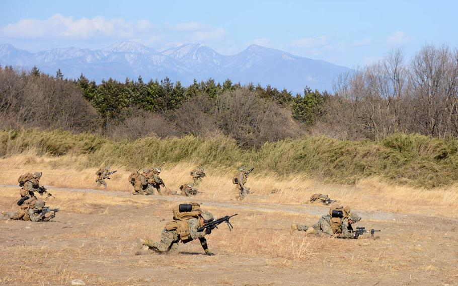 Okinawa-based U.S. servicemembers have joined Japanese troops in central Japan this week for training that includes air assaults from MV-22 Ospreys and CH-47 Chinook helicopters.