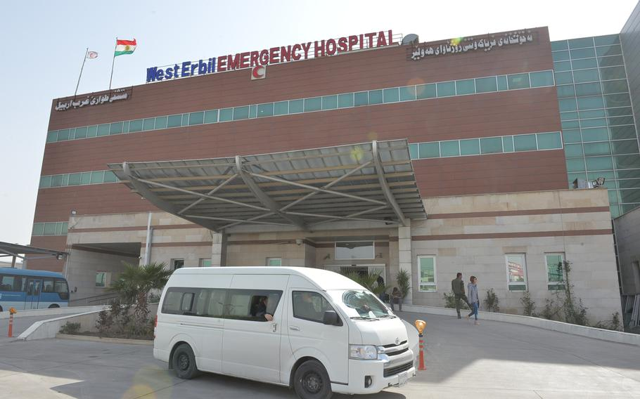Pictured here is the West Erbil Emergency Hospital on Saturday, March 11, 2017. The hospital has been treating many of the wounded from the battle for Mosul, which began in October, and in early March it received nearly a dozen patients with symptoms of exposure to chemical agents.