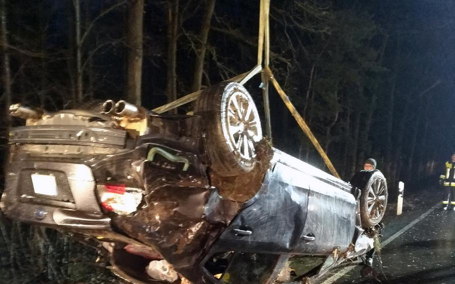 A 22-year-old soldier stationed in Vilseck, Germany, was killed Saturday, March 18, 2017, in a car accident near the Grafenwoehr Training Area. Two other soldiers were seriously injured and the driver of the car, who tested positive for alcohol, suffered minor injuries.