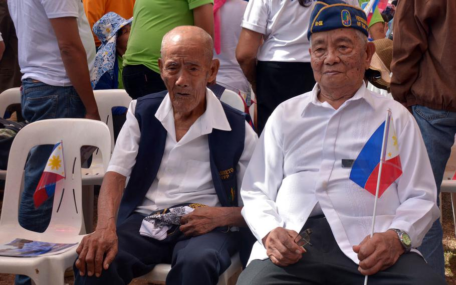 Battle of Bataan survivors were guests of honor at a ceremony marking the 75th anniversary of the surrender of the peninsula, Sunday, April 9, 2017, in Bataan, Philippines.