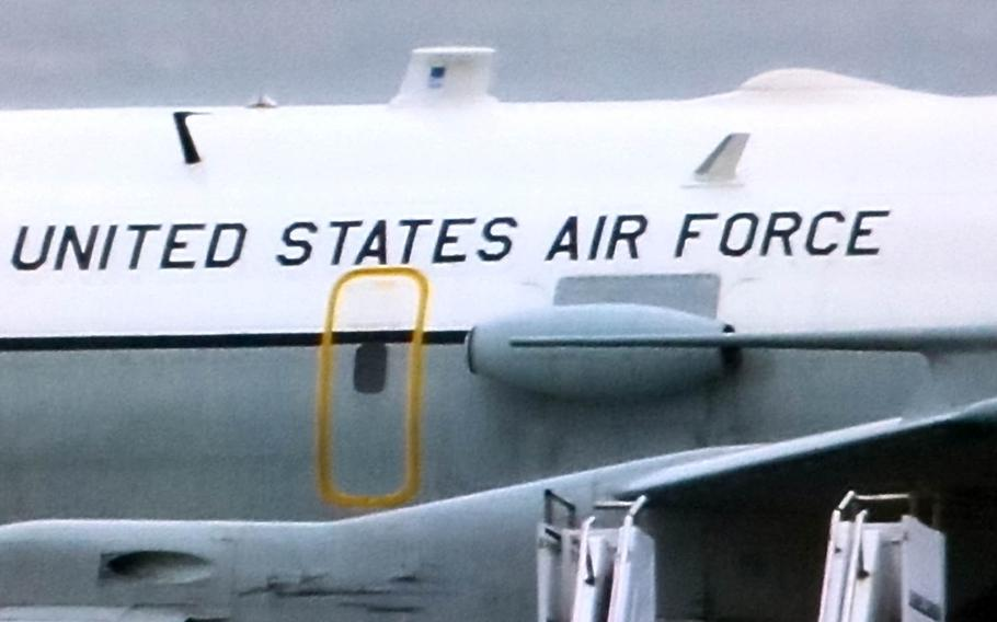 An Air Force WC-135 Constant Phoenix, which is commonly referred to as a nuke-sniffer, arrived at Kadena Air Base, Japan, Friday, April 7, 2017, said an Okinawan man who monitors military aircraft traffic at the installation.