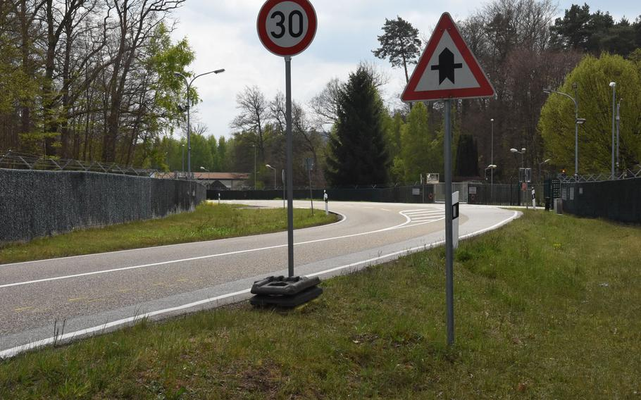 The curve on K25 between Weilerbach and Ramstein Air Base, Germany, where Staff Sgt. Grant Davis was killed on his bicycle more than a year ago. Davis was in the southbound lane, on the right-hand side of the road, traveling toward Ramstein when he was struck by a car driven by Senior Airman Benjamin Hann.