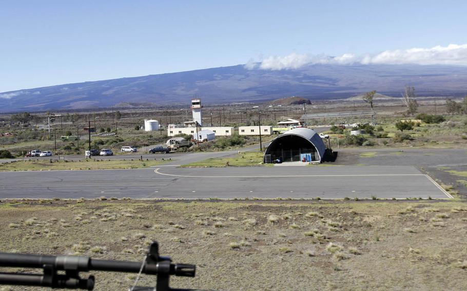 Bradshaw Army Airfield at Pohakuloa Training Area on Hawaii Island.