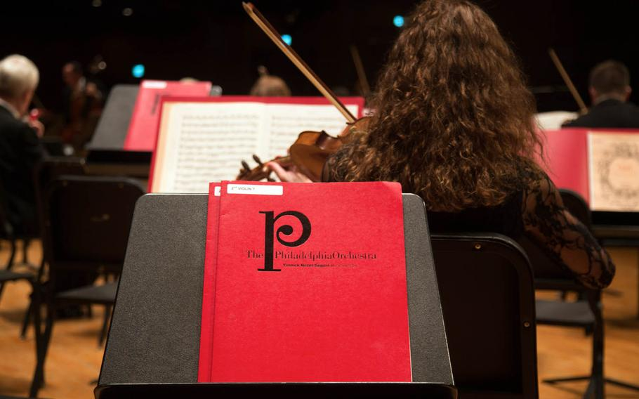 The Philadelphia Orchestra practices before a concert at the Seoul Arts Center's Music Hall, Thursday, June 8, 2017.