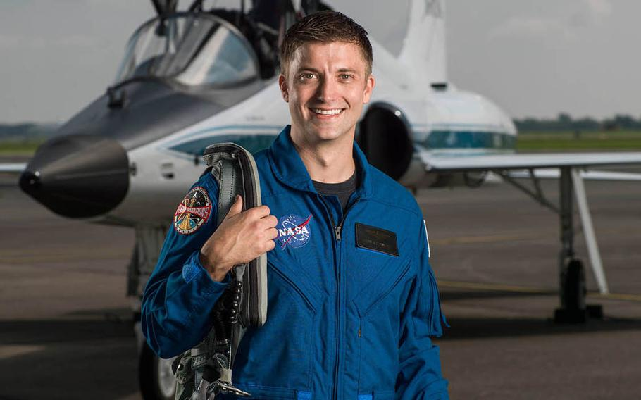 Lt. Commander Matthew Dominick, 35, who flies F/A-18 Super Hornets with the Naval Air Facility Atsugi-based VFA-115 Eagles, is among NASA's newest class of astronaut candidates.