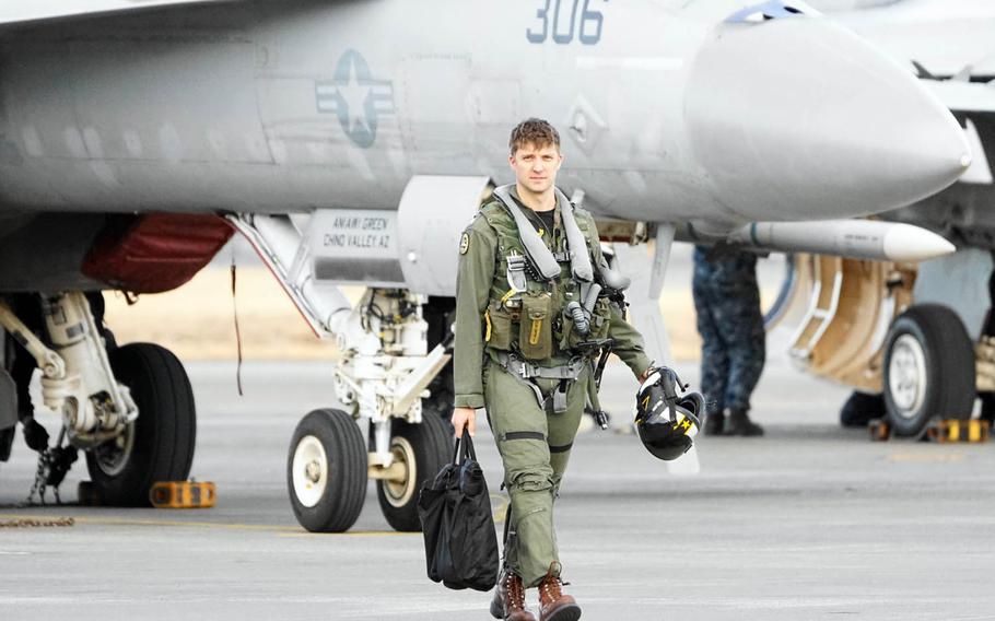 Lt. Commander Matthew Dominick, 35. who flies F/A-18 Super Hornets with the Naval Air Facility Atsugi-based VFA-115 Eagles has been selected for NASA astronaut training.