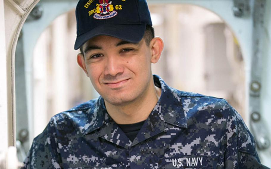 Yeoman 3rd Class Shingo Alexander Douglass, 25, of Oceanside, Calif., was one of seven sailors who perished when the destroyer USS Fitzgerald collided with a cargo ship off the coast of Japan, Saturday, June 17, 2017.
