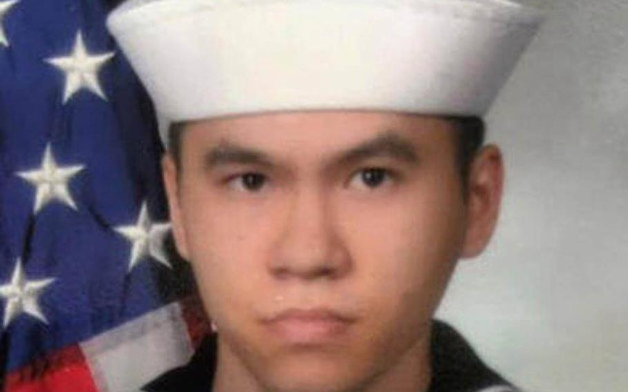 "Sonar Technician 3rd Class Ngoc ""Tan"" Truong Huynh, 25, of Oakville, Conn."