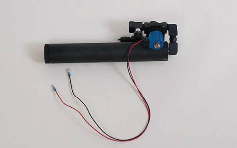 During a sting operation earlier this year, the Government Accountability Office was able to obtain restricted military items, such as this simulated pipe bomb, from the Defense Department using using a fictitious federal agency. Such items can be modified to actually function.