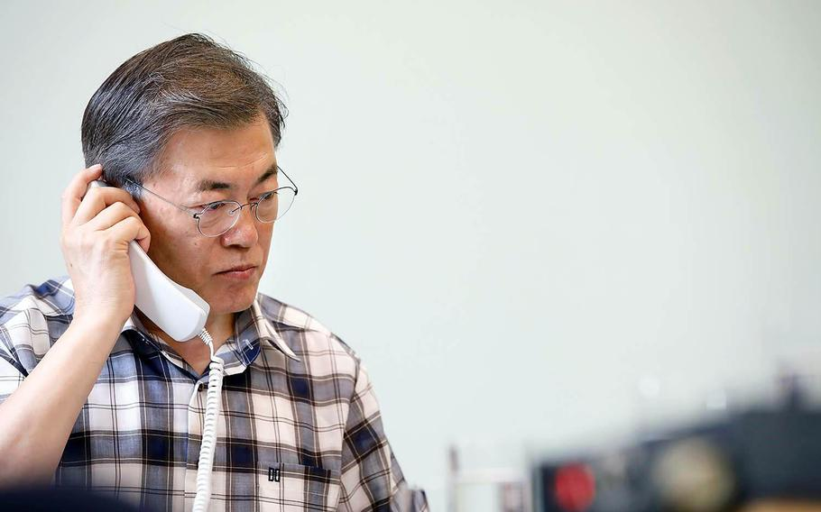 New South Korean President Moon Jae-in has found himself balancing his desire for dialogue with North Korea with a need for punishing sanctions and strengthening defenses.