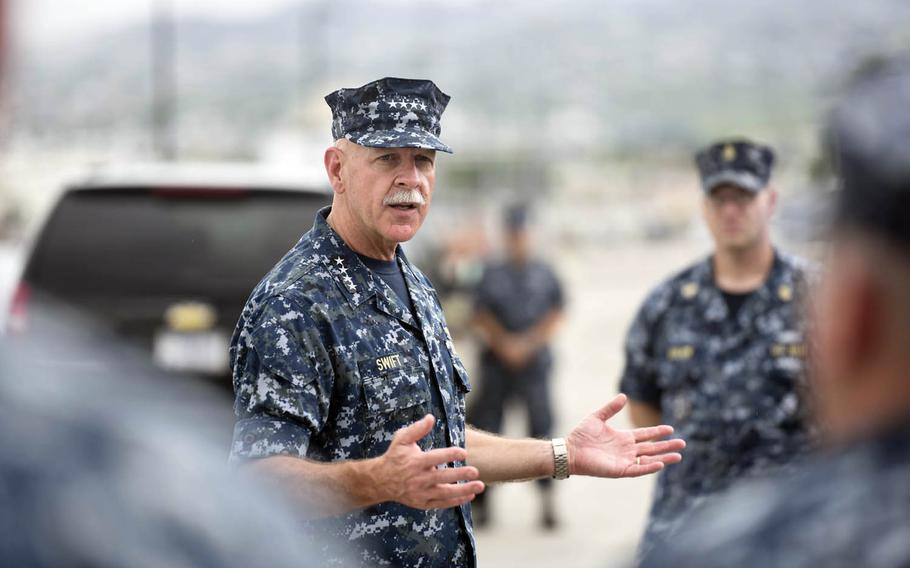 Adm. Scott Swift, U.S. Pacific Fleet commander, was among two dozen Navy leaders from around the Pacific who gathered this week in Hawaii to swap tips and brainstorm ideas on how to become a more lethal force.