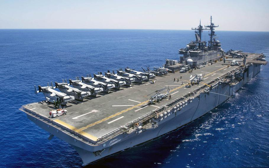 The USS Wasp will join the Navy's 7th Fleet as its forward-deployed amphibious-assault ship and will serve as the flag ship of 7th Fleet's amphibious forces.
