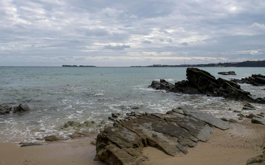 An endangered species of coral has been found in waters off Henoko in Okinawa, where construction is underway for the relocation of Marine Corps Air Station Futenma, Japan's Defense Ministry said on Wednesday, Sept. 27, 2017.
