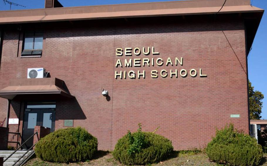 Falling enrollment prompted officials to combine the Seoul American Middle School and the Seoul American High School.