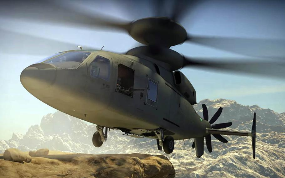 This still image from an animated video produced by Lockheed Martin shows the SB-1 Defiant helicopter that's be developed jointly by Sikorsky and Boeing.