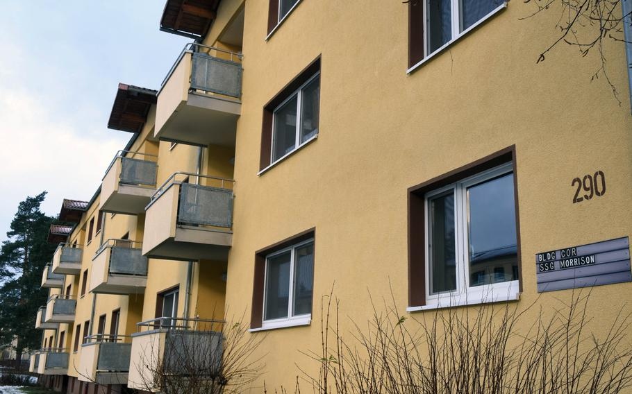 Base housing at Grafenwoehr Training Area, Germany, Friday, Jan. 19, 2018. The Army is conducting a servicewide survey to determine how families living in on-base and off-base leased housing rate their accommodations and the service's housing office.