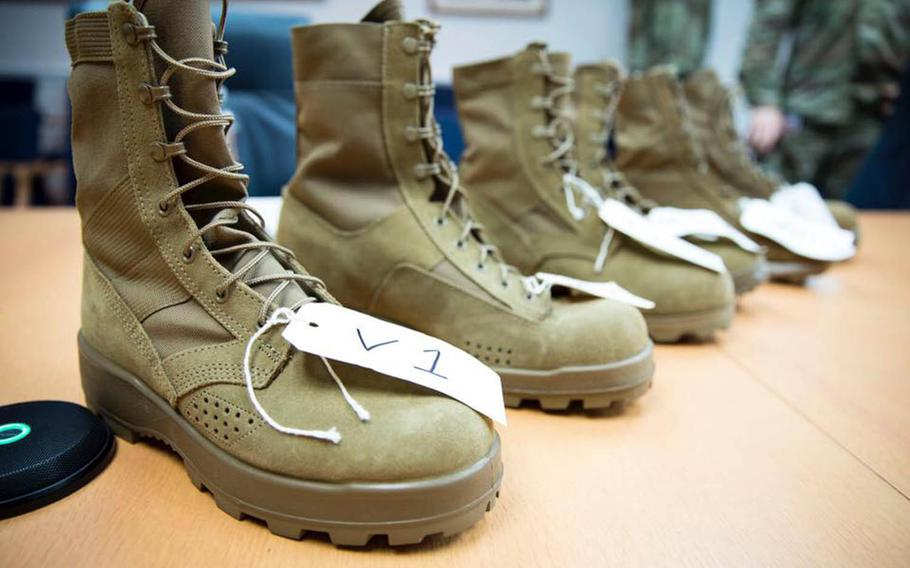 Variations of the jungle combat boot being field tested by Hawaii-based soldiers.