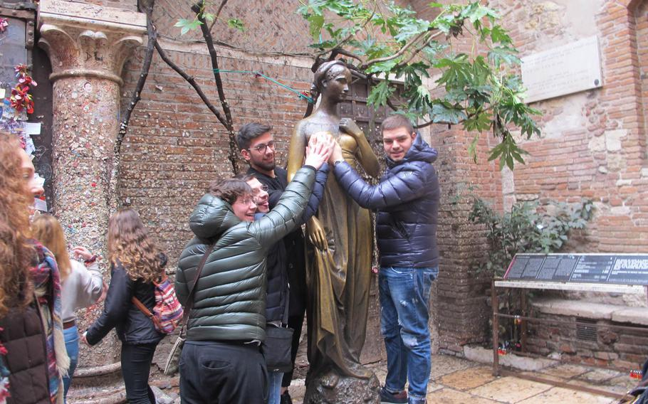 Some say the tradition of touching the statue of Juliet should be discontinued because it is disrespectful to the 13-year-old tragic heroine and to women in general.