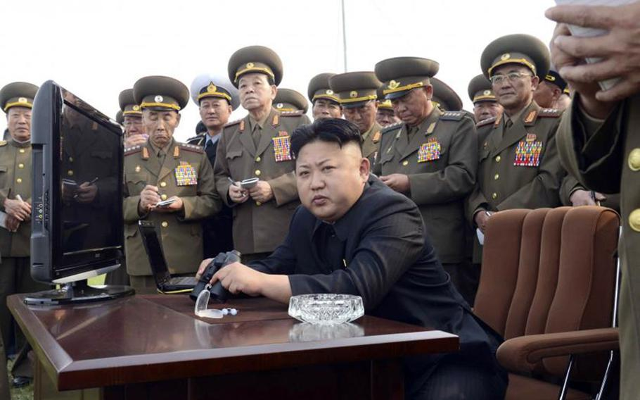 North Korean leader Kim Jong Un is pictured in this undated photo from the Korean Central News Agency.