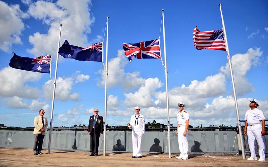 Vice Adm. Phil Sawyer, 7th Fleet commander, is visiting Brisbane, Australia, to celebrate the 75th anniversary of the fleet's establishment on March 15, 1943.