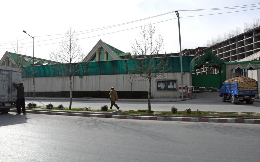 The Russian Cultural Center in Kabul, Afghanistan. U.S. officials accuse Russia of exaggerating the ISIS threat in Afghanistan in order to expand its influence in the region.