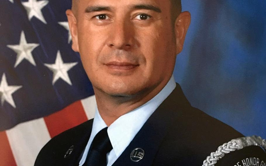 Oscar Rodriguez and another former airman are suing the Air Force for violating their religious liberty, dating back to a retirement ceremony at Travis Air Force Base, Calif., in 2016, when Rodriguez was thrown out for what he alleges was for a speech referencing ''God.''