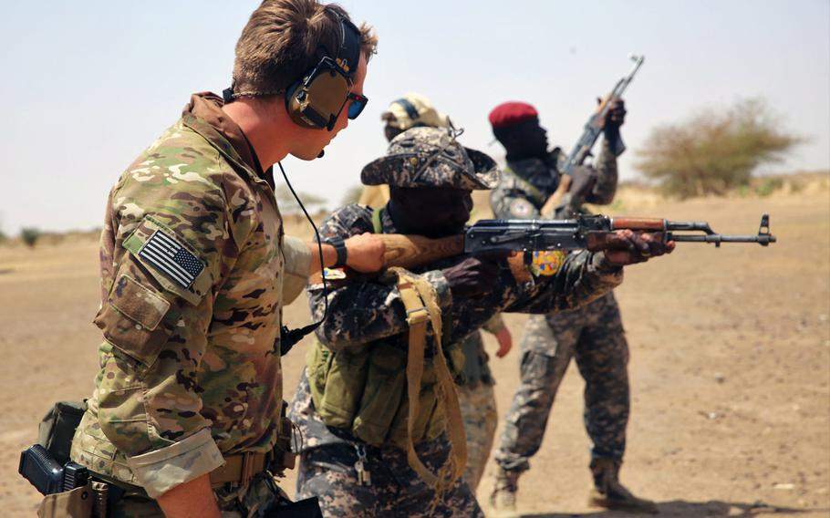 Chadian Special Forces soldiers receive basic rifle marksmanship and sniper training at a live-fire range March 6, 2017, in Massaguet, Chad as part of Flintlock 17. A U.S. senator is pushing to get the Army to assign one of the service's new Security Forces Assistance Brigades to AFRICOM, which doesn't have any assigned forces.