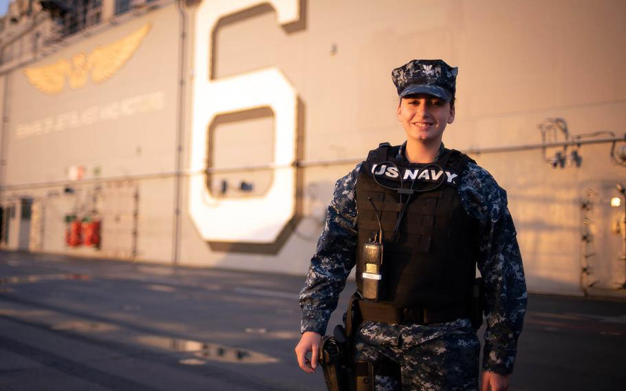 Petty Officer 2nd Class Siara Poder, an aviation ordnanceman who has been assigned to the USS Bonhomme Richard for four years, said the ship holds many memories for those who have been aboard since it arrived in Japan in 2012.