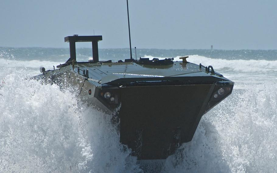 The U.S. Marine Corps' amphibious vehicle replacement, the Amphibious Combat Vehicle 1.1, is under budget and on schedule for a June low-rate production run.