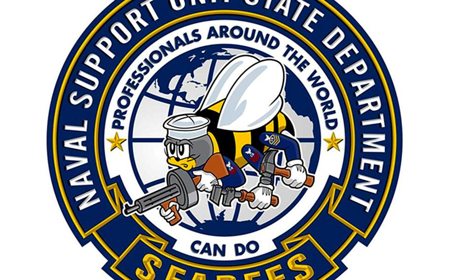 U.S. Navy Seabees' Naval Security Unit - State Department unit logo.