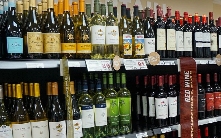 A Defense Department memo says beer and wine will soon be sold at commissaries in an effort intended to bring greater convenience for customers who previously had to visit exchange facilities to purchase alcohol, such as this convenience store at Yokota Air Base, Japan.