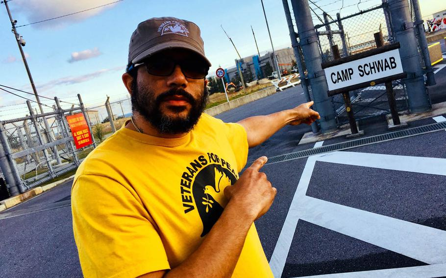 Miles Thomas, also known as Megaciph, is a former Marine turned Veterans For Peace activist and hip-hop artist who supports Okinawa's anti-U.S. base movement.