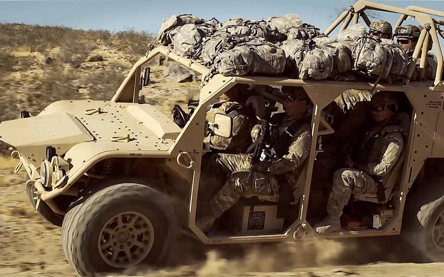 The 173rd Airborne Brigade is scheduled to receive the Ground Mobility Vehicle, based on the Flyer Advanced Light Strike Vehicle, sometime next year.